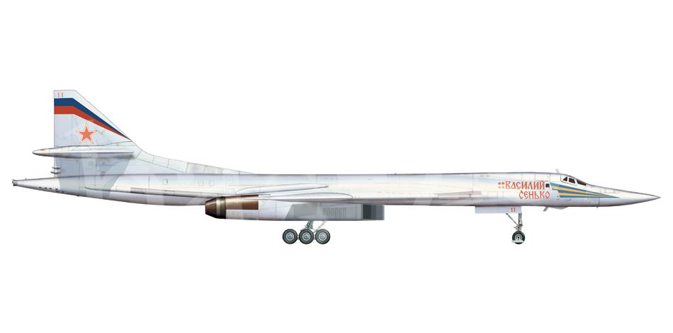 Tupolev Tu-160 (Bombardero pesado supersónico de geometría variable  Rusia) Tu-160-11-x
