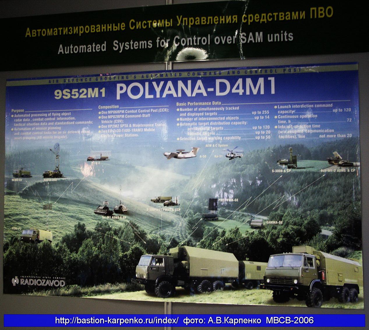 """عقد لتوريد أنظمة القيادة والسيطرة للجزائر """"أكاسيا-E"""" POLYNA-D4M1_MVSV-2006_01"""