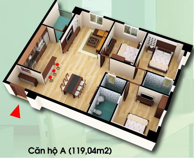 Chung cư D2CT2 Tây Nam Linh Đàm bán căn hộ DT 119,04m2 Chung-cu-d2ct2-can-ho-loai-a
