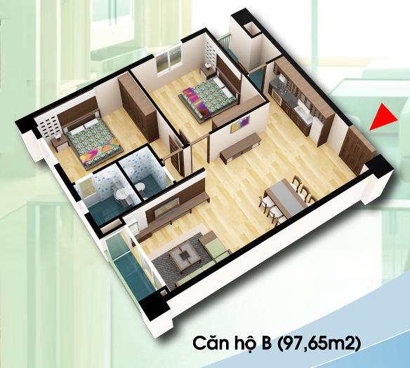 Bán căn góc DT 97,65m2 chung cư D2CT2 Tây Nam Linh Đàm Chung-cu-d2ct2-can-ho-loai-b
