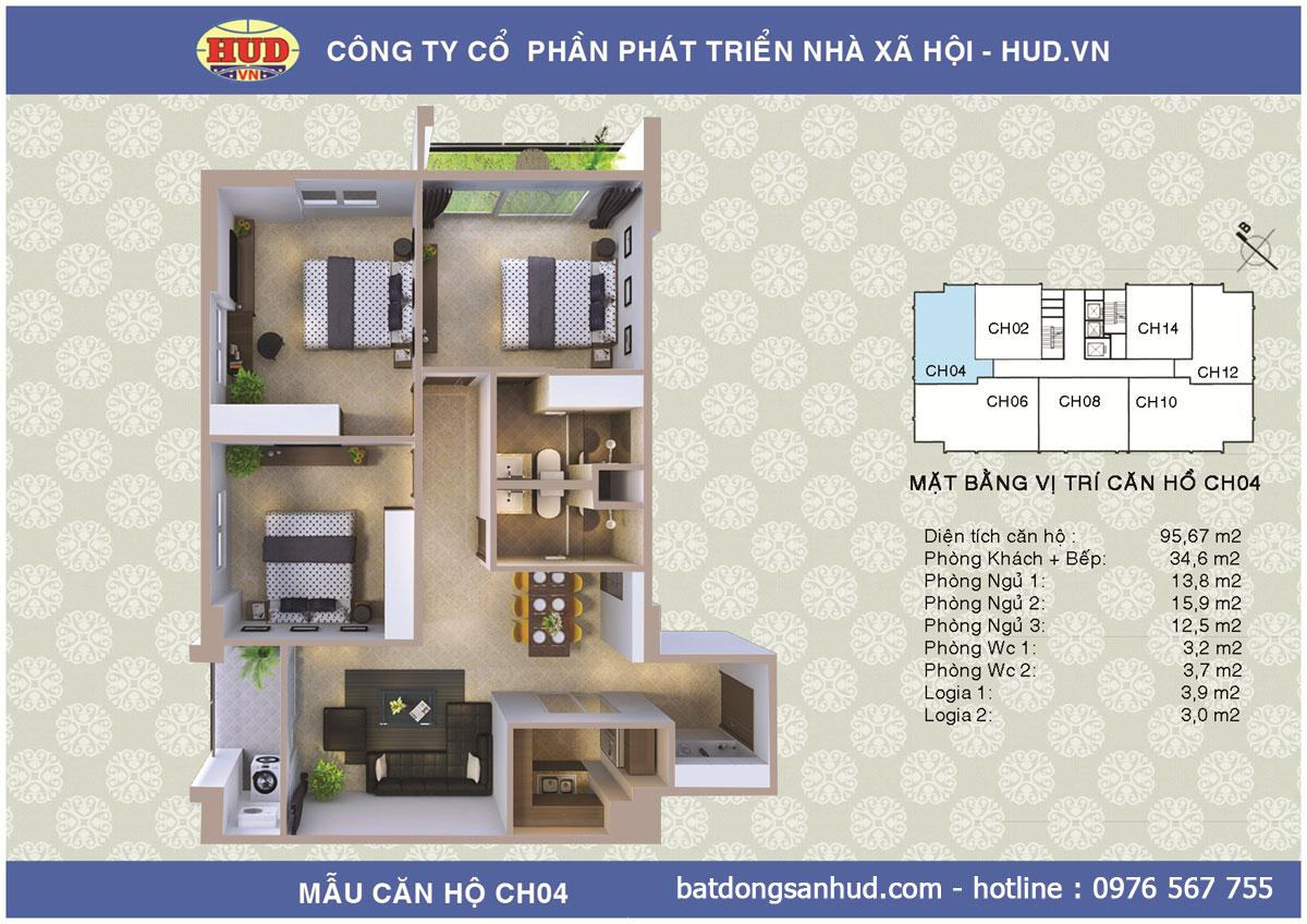 Phân phối độc quyền chung cư A1CT2 Tây Nam Linh Đàm giá rẻ Ct2a1-tay-nam-linh-dam-95m2