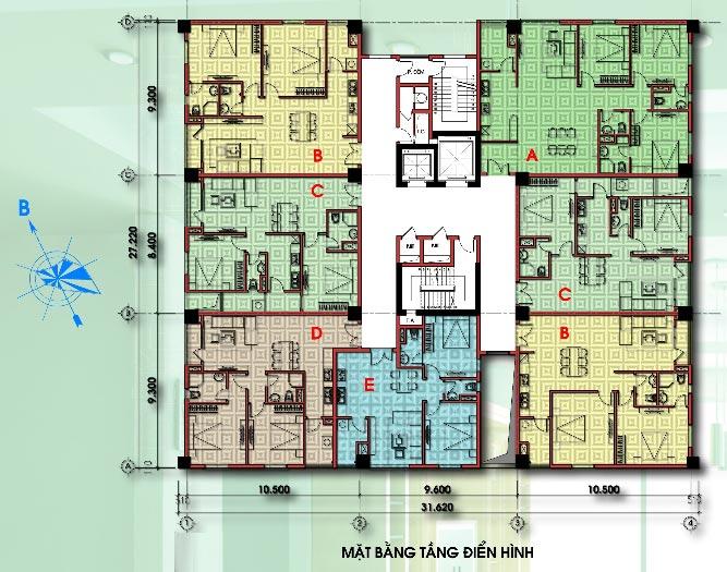 phân phối dự án chung cư D2CT2 tây nam linh đàm Mat-bang-dien-hinh-chung-cu-d2ct2-tay-nam-linh-dam