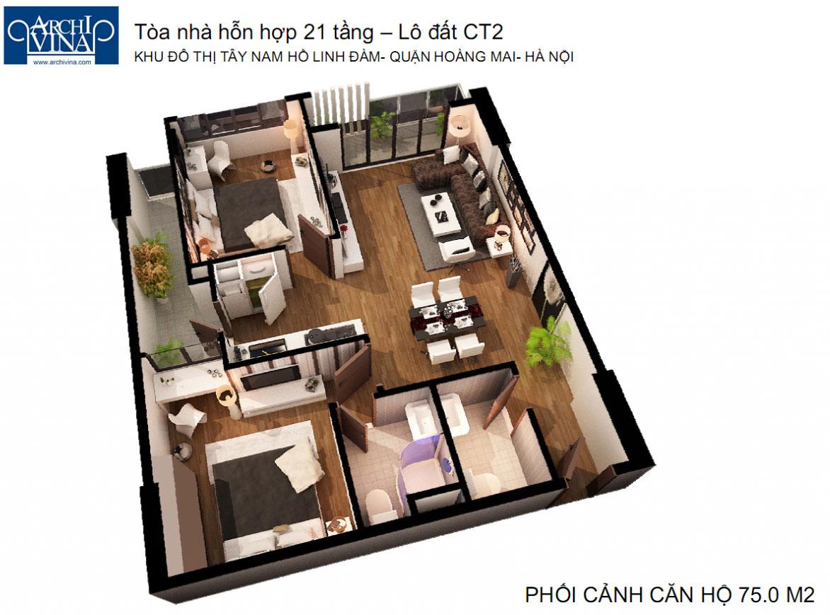 Bán căn hộ chung cư B1b2 CT2 Tây nam Linh Đàm Phoi-canh-can-75m