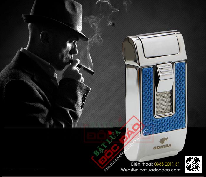 Hộp quẹt khò, hộp quẹt xì gà Cohiba 1 tia H090 hcm 1445913345-bat-lua-hut-cigar-chinh-hang-cohiba-h090-06