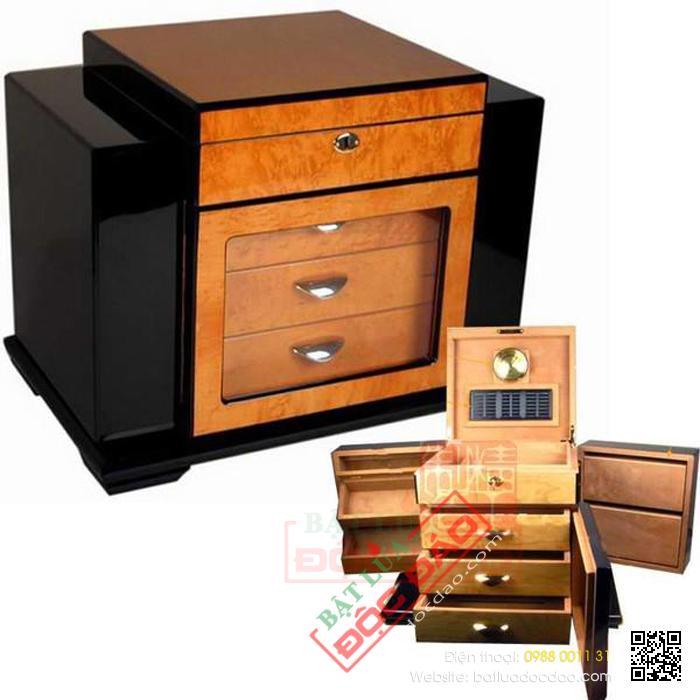 Tủ bảo quản xì gà (cigar) Humidor AP007 cao cấp, chính hãng 1452244088-tu-bao-quan-xi-ga-tu-giu-am-xi-ga-humidor-ap-0077-1