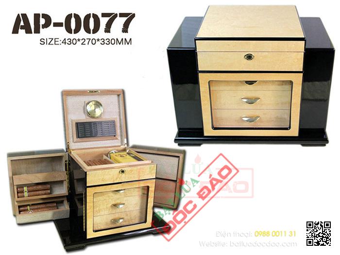 Tủ bảo quản xì gà (cigar) Humidor AP007 cao cấp, chính hãng 1452244088-tu-bao-quan-xi-ga-tu-giu-am-xi-ga-humidor-ap-0077-2
