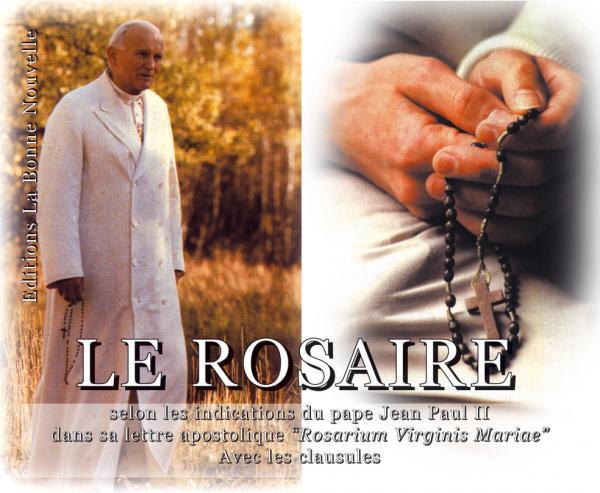 Retour/ méditation/Rosaire/+/Lettre Apostolique Rosarium Virginis MariaeSaint-Jean-Paul II/ RosaireJPII