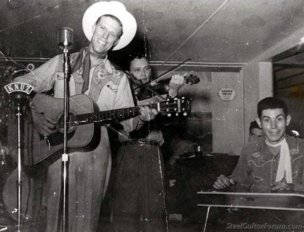 Quelques Héroes de la Steel 939_Jerry_Jericho_Earl_Caruthers_and_Dusty_Stewart_Houston_Tx_c1950_1