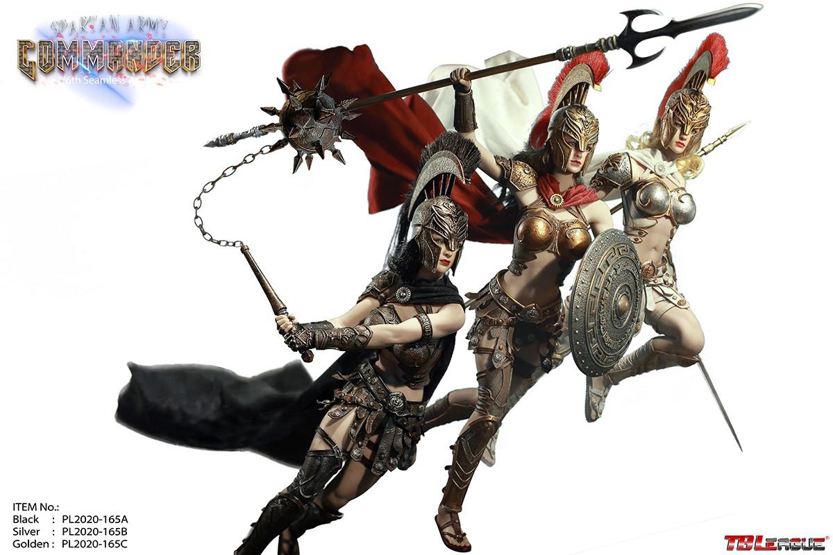 """TBLeague 1//6 Captain Sparta Army Commander 12/"""" Female Figure Set PL2020-165 ABC"""