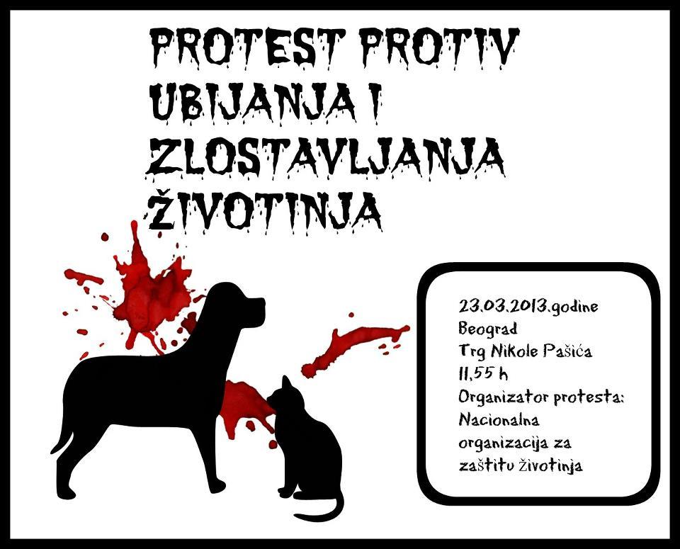 Protest protiv ubijanja i zlostavljanja zivotinja Protest