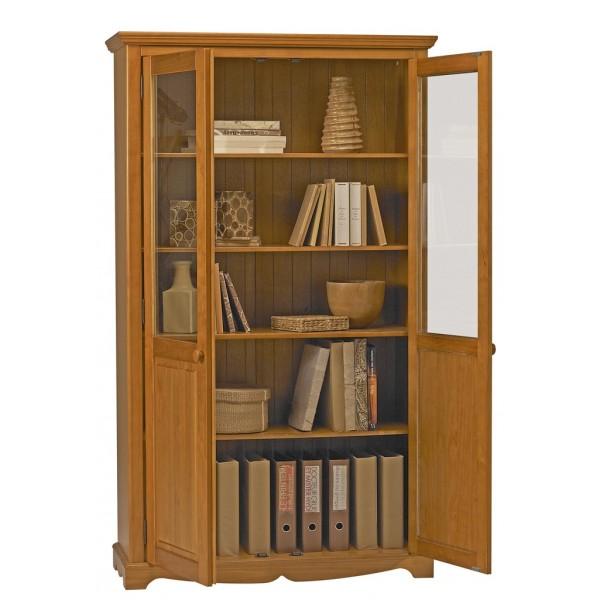 Une bibliothèque dans le salon Meuble-bibliotheque-pin-miel-2-portes-de-style-anglais-38222