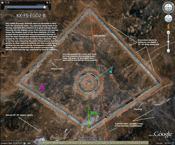 "Egypt – Secrets Found – Ancient ""Space-Ports"": ""When Men Of Earth Traveled The Stars"" Egypt-geoglyphs-temple-area-02-B"