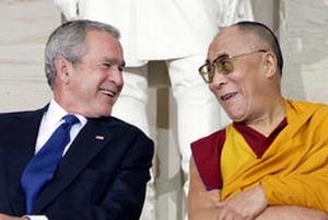 Chine, Tibet et Dalaï-Lama vus par Jean-Luc Mélenchon Bush_lama_02