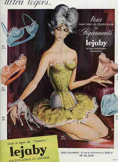 Les affiches du temps passé quand la pub s'appelait réclame .. - Page 5 1959_lejaby