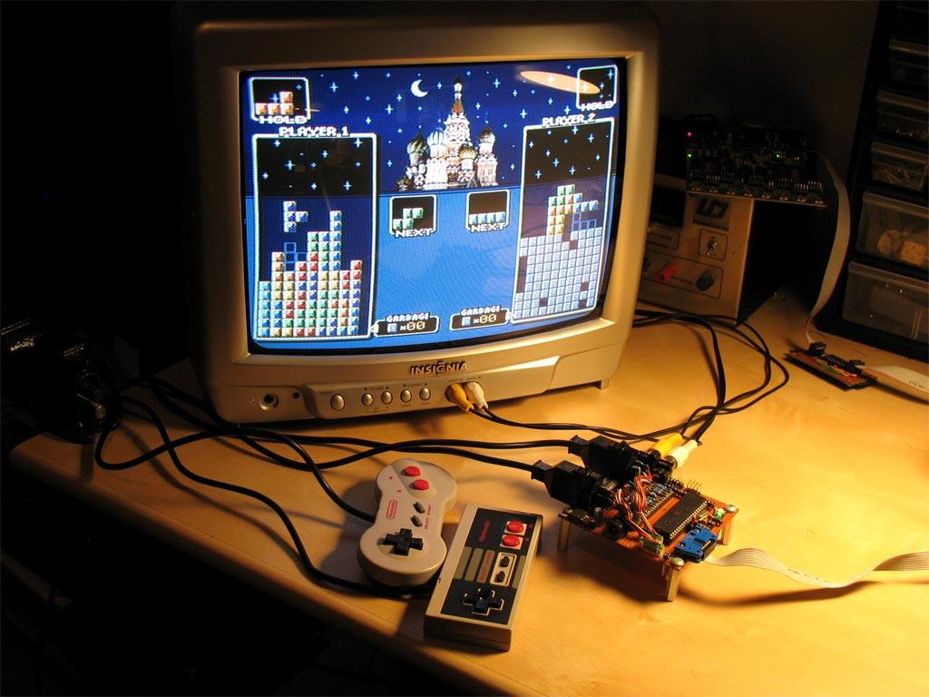 videogame - Projeto Opensource Uzebox para desenvolver seu proprio Videogame. Megatris