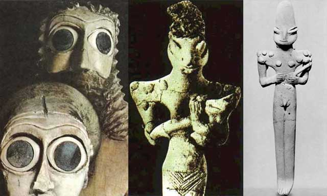Reptilian Gods of the Distant Past – The Ancient Anunnaki Annunaki-Sumerian-Statues-Reptilian-Hybrids-main