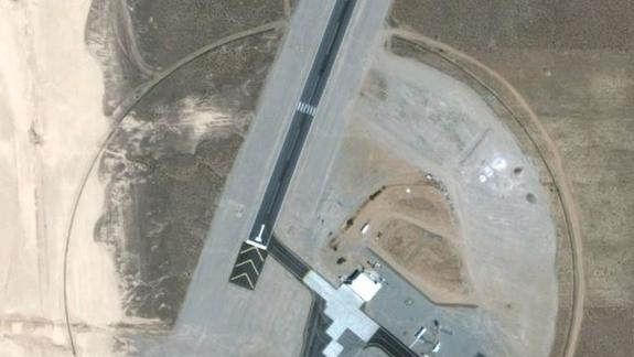Google Earth Finds Mysterious 'Area 6' Landing Strip in Nevada Desert, Experts Baffled Area-6-hangars6-main