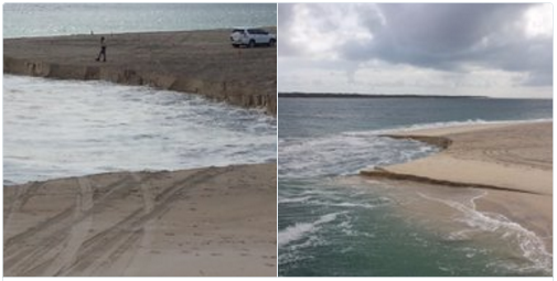 Another Major Erosion Event Along Inskip Point beach, Queensland, Second One in Six Months Erosion-Sinkhole-Australia
