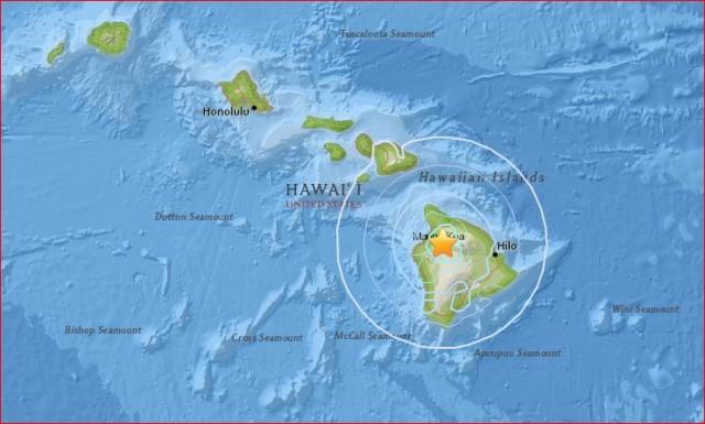 Loud booms as M4.6 Earthquake Strikes Near Mauna Kea Volcano, Hawaii – Imminent Eruption? Hawaii-quake-march-20-2016-main-e1458538425255