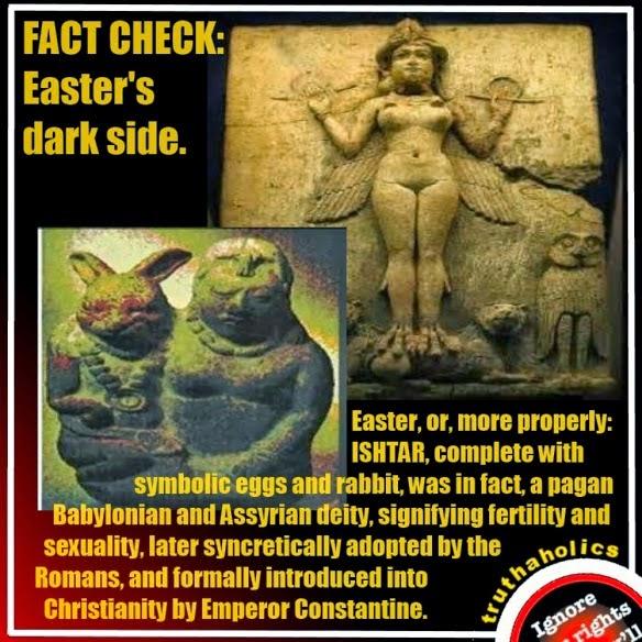 The Truth About Easter And The Secret Worship Of The Anunnaki Ishtar-easter-bunny-eggs-inanna-anunnaki-goddess