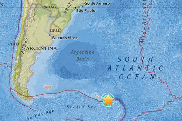 Massive 7.4 M Earthquake Rocks British Islands & Santiaguito Volcano Erupts  7.4MQuakeBritishIslandsAug18-2016-e1471619763601