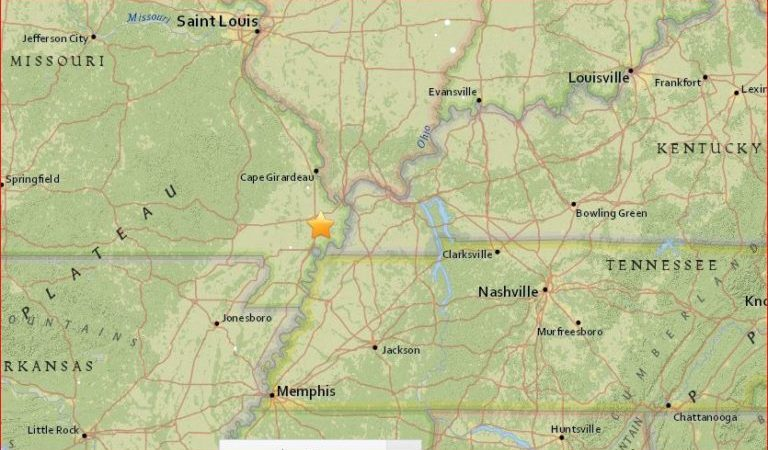 4 Earthquakes Rattle Missouri, Illinois, Kansas and New Jersey in 24 hours Earthquake-new-madrid-august-2016-768x450