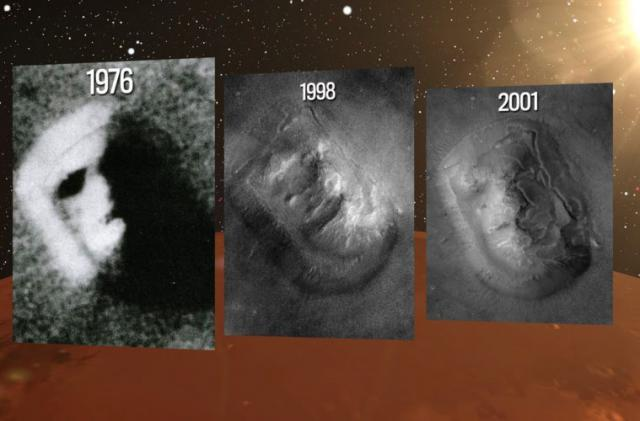 Three Ex-NASA Scientists Claim The Giant Face & Pyramid Found on Mars in 1976 are Real Pyramids-Giant-Face-Mars