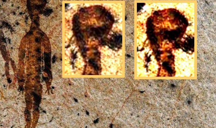 Amazing Discovery in India: 10,000 Year old Rock Paintings Depicting Possible UFO's and ET's ET_001-759x450