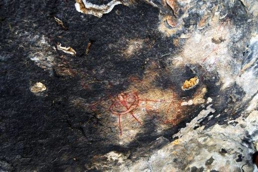 Amazing Discovery in India: 10,000 Year old Rock Paintings Depicting Possible UFO's and ET's IndiaET-CavePainting2