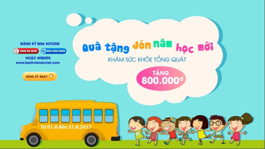 Bệnh viện An Việt: Tặng 800.000đ Gói khám sức khỏe tổng quát cho trẻ 5-15 tuổi GPlus%20%282%29