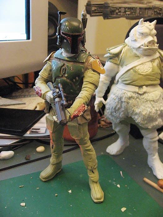 Boba Fett pour diorama Jabba Palace GG 01
