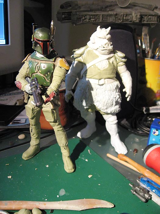 Boba Fett pour diorama Jabba Palace GG 03
