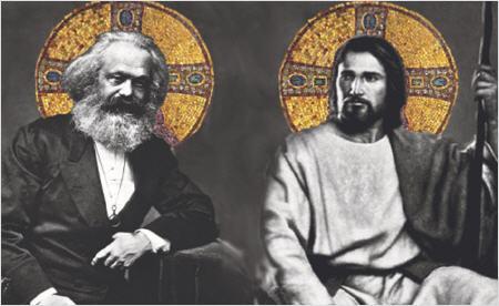 Stratégie de l'Antéchrist : NON, puis NON-OUI, enfin OUI comme AMAZONIE ! - Page 2 Marx-y-jesus_450