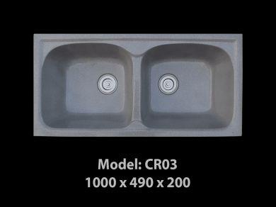 [HCM] Chậu rửa chén đá nhân tạo tuyệt đẹp, giảm giá mạnh cuối năm Cr03