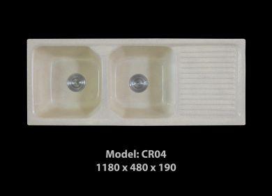 [HCM] Chậu rửa chén đá nhân tạo tuyệt đẹp, giảm giá mạnh cuối năm Cr04