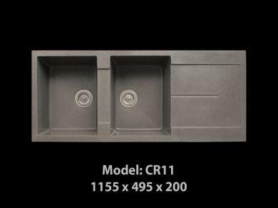 [HCM] Chậu rửa chén đá nhân tạo tuyệt đẹp, giảm giá mạnh cuối năm Cr11