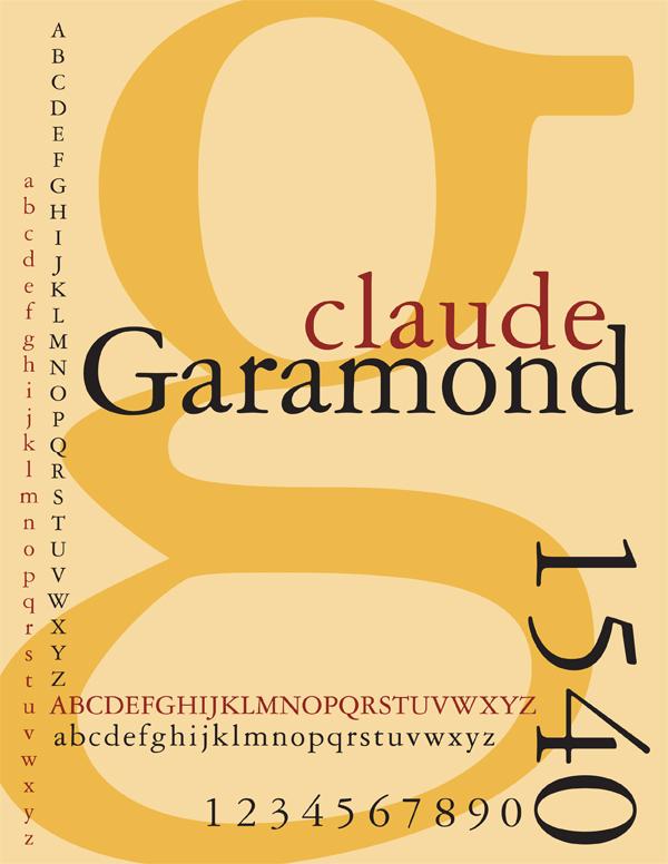 Vos polices d'écriture préférées - Page 2 Garamond