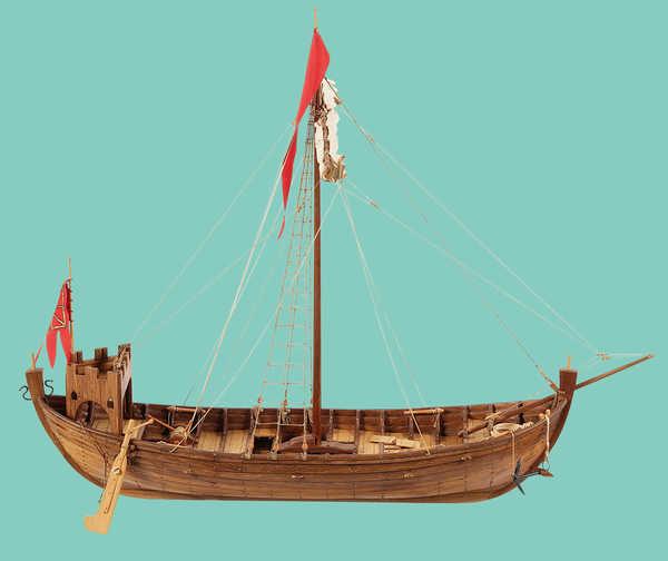 Coque playmobil pour nef médiévale 079