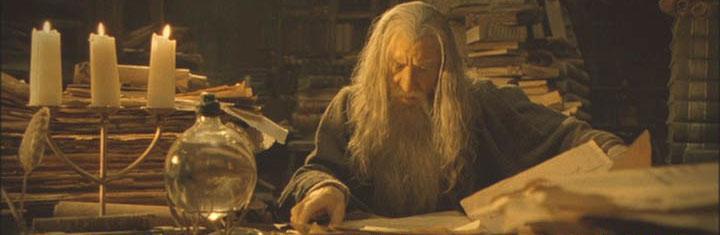 Lili Ledy Figures on ebay Gandalf-in-library