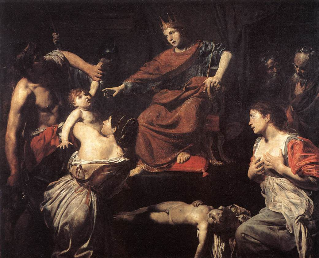 The United States of the Solar System, A.D. 2133 (Book Seven and the Seven Seals) - Page 38 8a-the-judgment-of-solomon-valentin-de-boulogne
