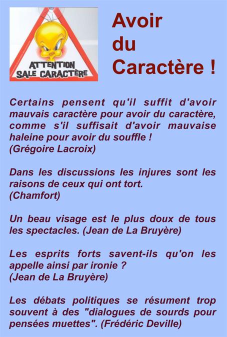 Citations Sur Caractere Captivite