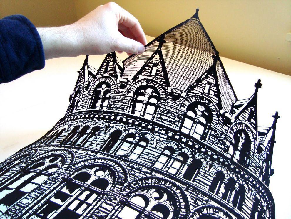 Черные вырезки Джо Бэгли PaperCutArt01