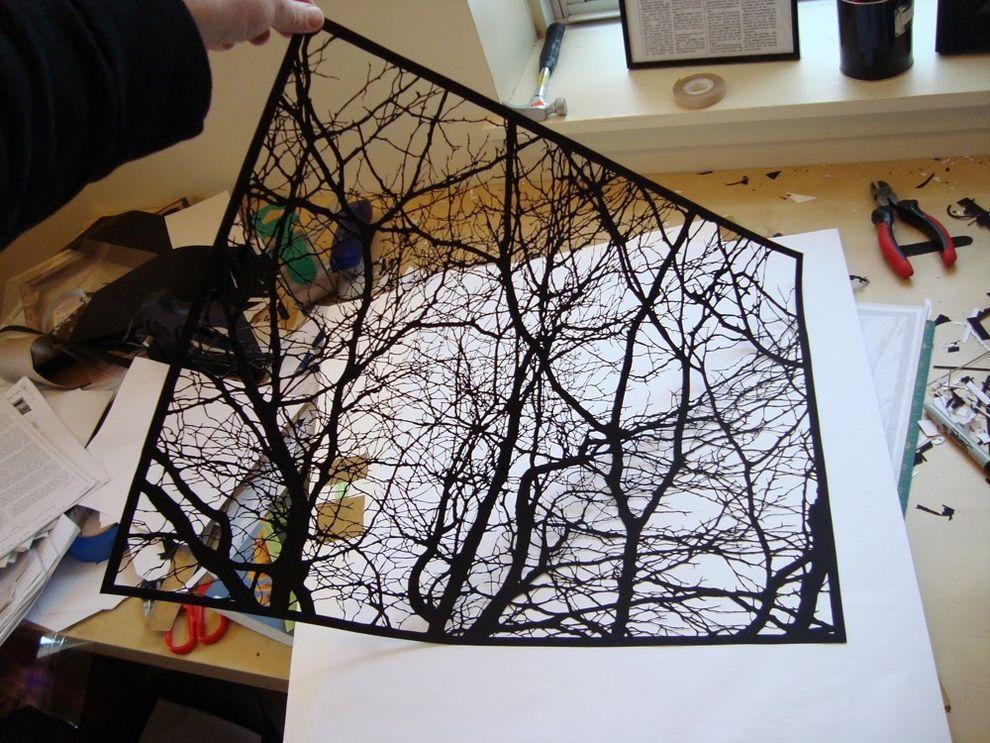 Черные вырезки Джо Бэгли PaperCutArt08