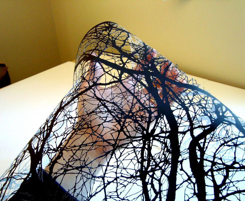 Черные вырезки Джо Бэгли PaperCutArt09