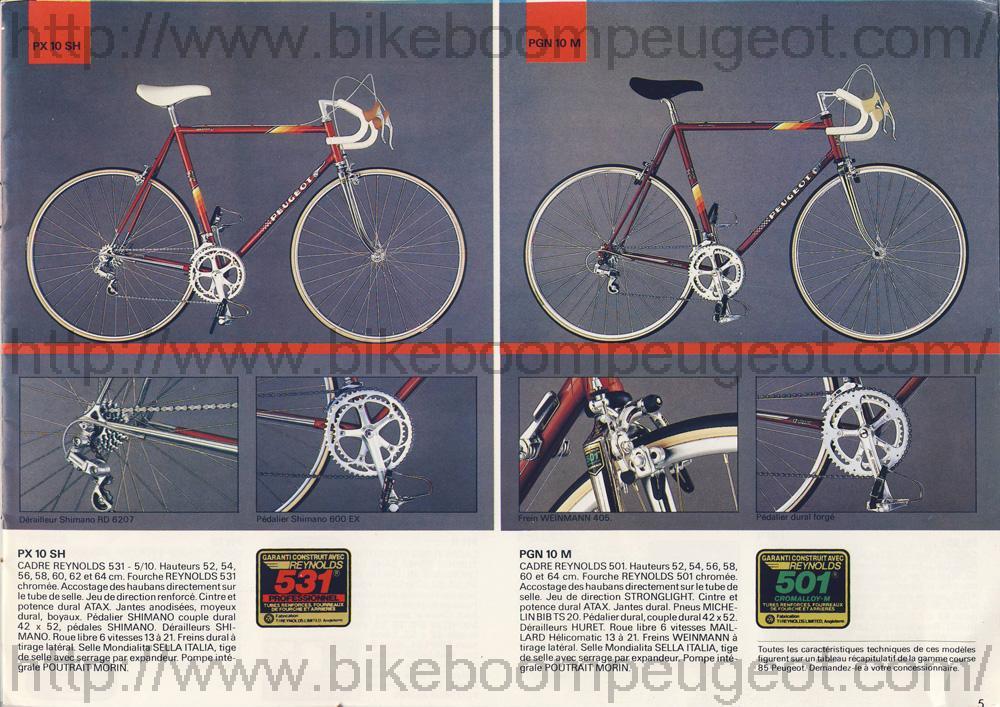 Nouveau Peugeot Vanoise PH 513 de 1988 Peugeot_France_1985_Brochure_PX10SH_PGN10M_BikeBoomPeugeot