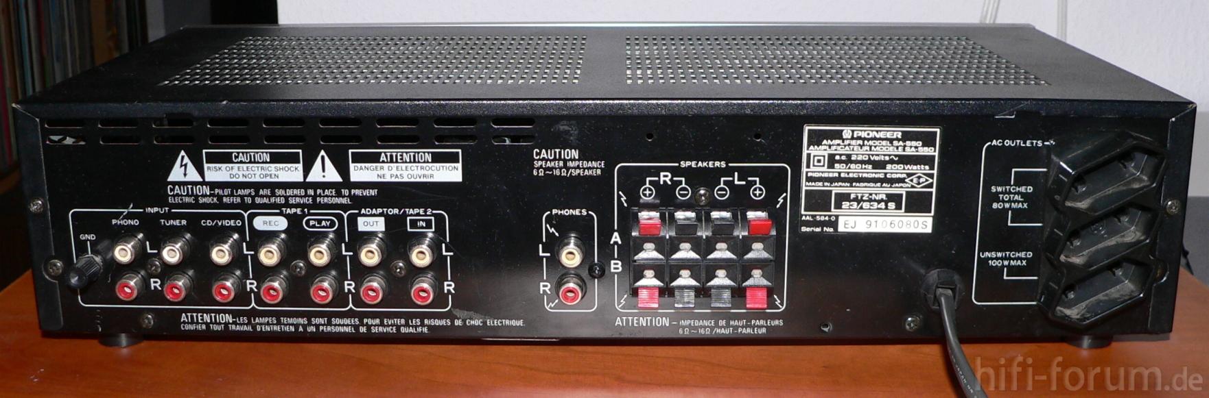 Problema Phono muto amplificatore Pioneer-sa-550-ruckseite_18871
