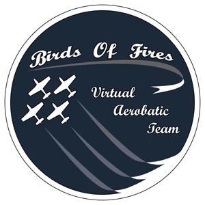 Patrouille Virtuelle de Voltige Birds Of Fires Logo300