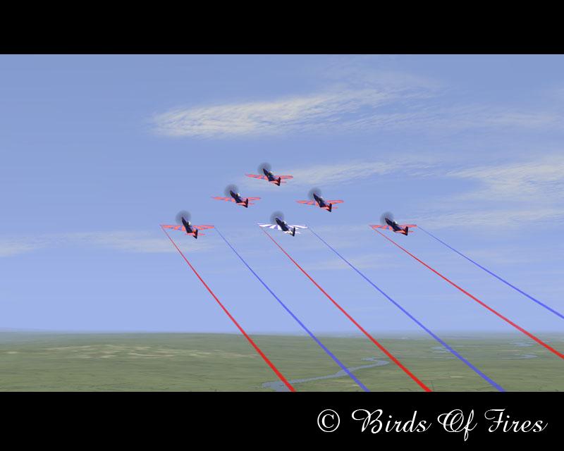 Patrouille Virtuelle de Voltige Birds Of Fires BirdsOfFires02