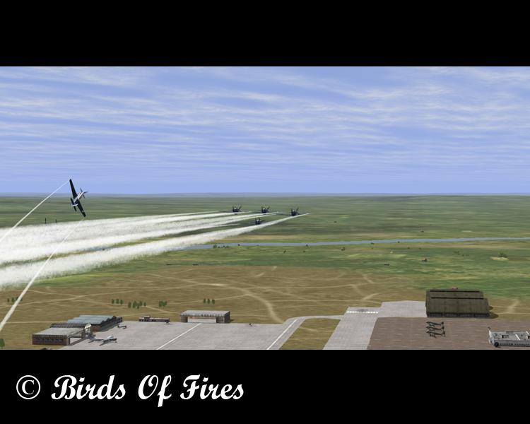 Patrouille Virtuelle de Voltige Birds Of Fires Birdsoffires0088