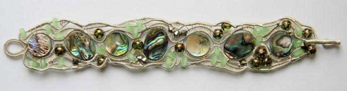 Эксклюзивные украшения из проволоки  Bras-perl